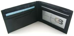 geoffrey beene mead black front pocket wallet w gift box this wallet