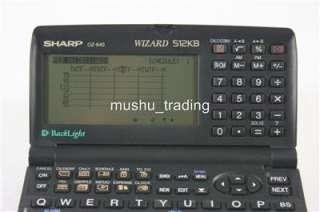SHARP WIZARD OZ 640 ELECTRONIC PERSONAL ORGANIZER 512KB
