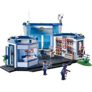 Playmobil Police Playset: Police Headquarters   Playmobil   Fire