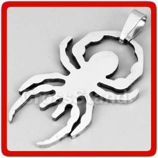 STAINLESS STEEL SPIDERMAN HERO LOGO SIGN SYMBOL PENDANT