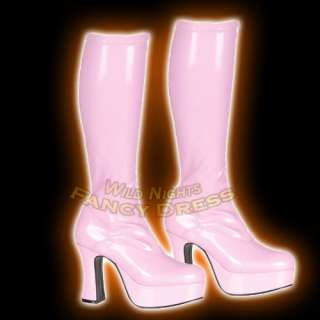 FANCY DRESS EXO2000X GOGO BOOTS WIDE FIT BABY PINK 8