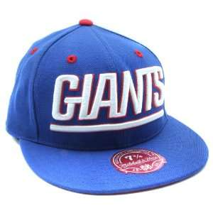 New York Giants Mitchell and Ness Flat Bill Fitted Hat