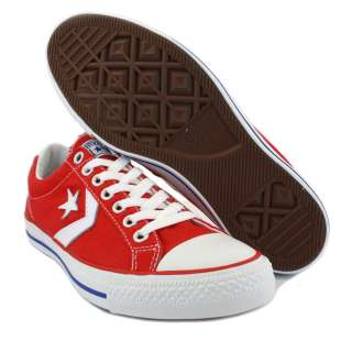 Converse Star Player Ev Ox 129848C Unisex Laced Canvas Trainers Red