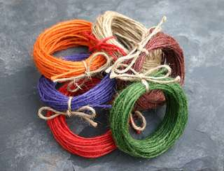 Soft Red Natural Jute Twine Crafts Hanging Decorations