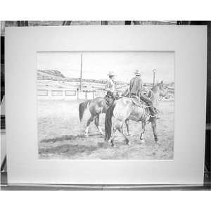 Ropers Horse Fine Art Matted Print By Guthrie Sports & Outdoors