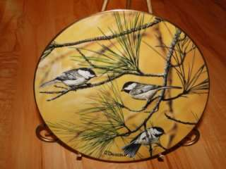FAVORITE AMERICAN SONGBIRDS Autumn Chickadees Plate