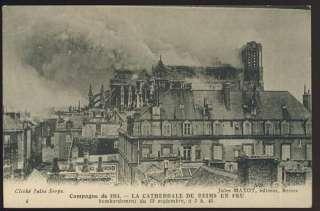 CPA/ CAMPAGNE DE 1914 LA CATHEDRALE DE REIMS EN FEU