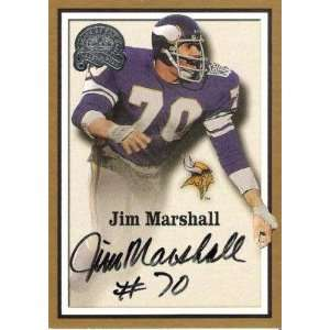 JIM MARSHALL (Vikings) 2000 Fleer Certified Autograph