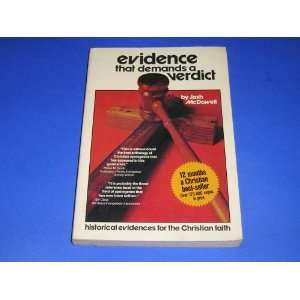 Evidence That Demands a Verdict Volumes 1 and 2 Josh McDowell Books
