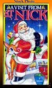 VISIT FROM ST NICK (1992) VHS 4 Animated Cartoons LN