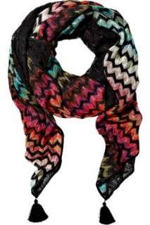 Missoni Crochet knit zigzag scarf