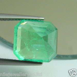 EXCELLENT & NICE 7.35 Cts NR GREEN EMERALD,EMERALD CUT