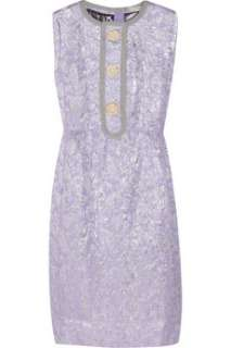 Metallic brocade shift dress by Marc Jacobs