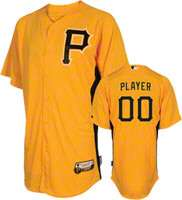 Pittsburgh Pirates Jersey Any Player Authentic Gold On Field Batting
