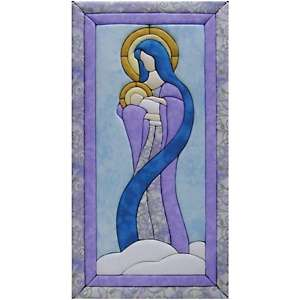 No Sew Wall Hanging Kit   10 x 19 Mary and Baby Jesus
