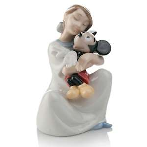 NAO I Love You Mickey Porcelain Figure Handmade by Lladro at HSN