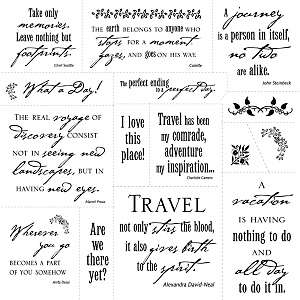 Fiskars Cloud 9 Clear Stamp   Simple Thoughts Travel
