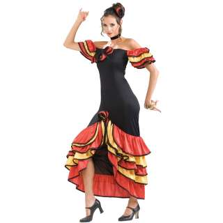Spanish Lady Adult Costume   Includes dress and headpiece. Shoes not