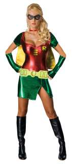 Sexy Robin Adult Costume   Includes Dress, cape with string that