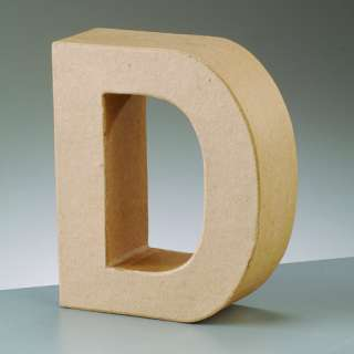 Paper Mache Large Cardboard Letters & Signs 3D Craft 17.5cm Choose