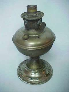 Kerosene Oil Table Lamp w Model 11 Burner Antique Vintage
