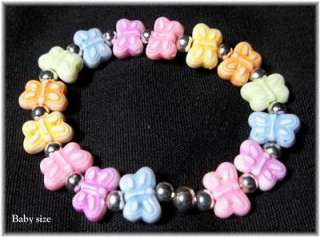 Doll Bracelet for Reborn Baby   Pastel Butterflies, TDF