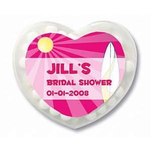 Wedding Favors Pink Beach Theme Personalized Heart Shaped