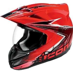 Mens Variant Sports Bike Racing Motorcycle Helmet   Red / Medium