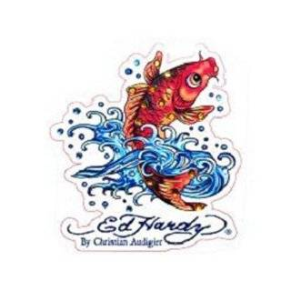 Ed Hardy Koi Fish Seat Covers (Pair): Automotive