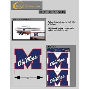 Ole Miss Rebels Jumbo/Boat Decals