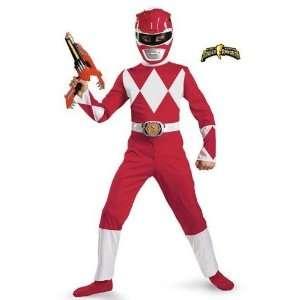 Red Power Ranger Costume Boys 10 12 Husky Toys & Games