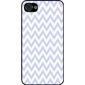 Blue Zig Zag Stripes Rubber Black iphone Case (with bumper) Cover