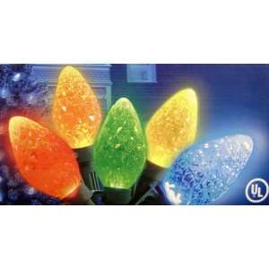 Set of 25 LED Diamond Cut C7 Multi Color Christmas Lights