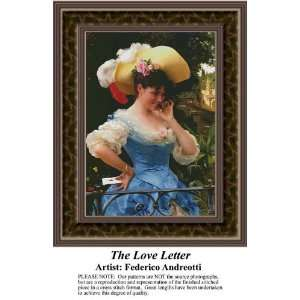 The Love Letter, Cross Stitch Pattern PDF Download