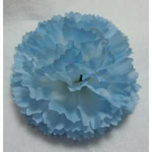 NEW Sky Blue Carnation Hair Flower Clip, Limited. Beauty