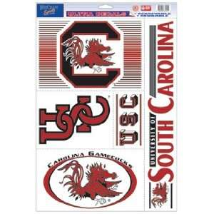 South Carolina Gamecocks Static Cling Decal Sheet *SALE