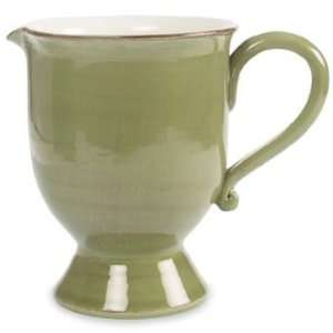 Alfa Ital Earthenware Olive Green Pitcher 8.3 Kitchen & Dining
