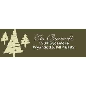 Christmas Tree Return Address Labels (5 pack) Office