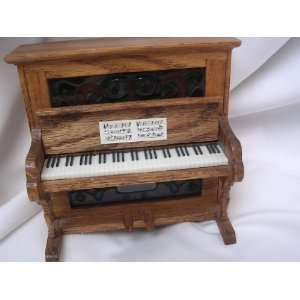 Piano Music Box Wooden Doll House Furniture Vintage 5 Collectible