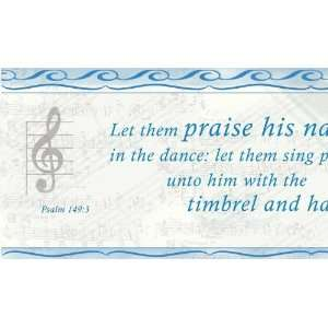 Instrument of Praise Country Blue Wallpaper Border by Writings on the