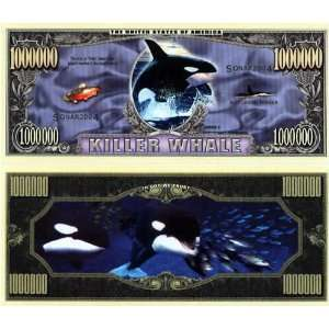 Set of 10 Bills Killer Whale Million Dollar Bill Toys & Games