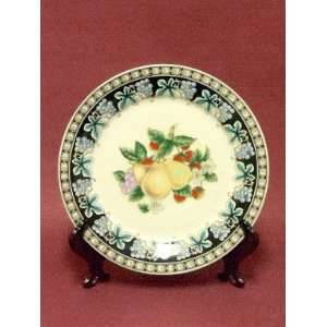 Porcelain Decorative Dinner Plate Pears, Raspberries