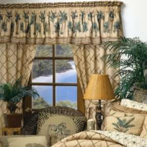 Kona Palm Tree Tropical Bamboo Drapes & Valance Home & Kitchen