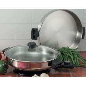 Precise Heat 3 in 1 Electric Skillet: Kitchen & Dining
