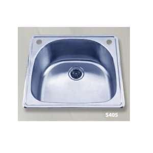 Steel D shaped Top Mount Single Bowl Kitchen Sink