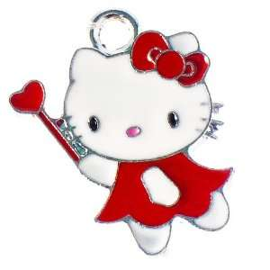 12X DIY Jewelry Making Fairy Hello Kitty enamel charm