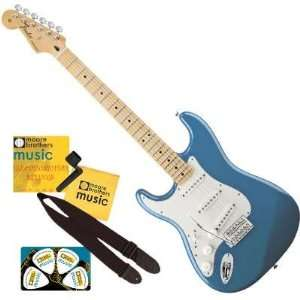 Fender® Standard Stratocaster®, Left Handed Electric Guitar, Lake