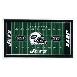 NFL New York Jets XL Football Field Mat
