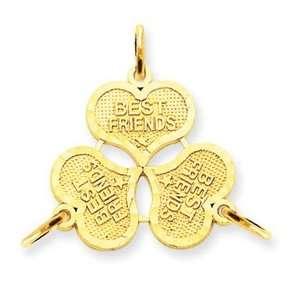 14k 3pc break apart Best Friend Charm Jewelry