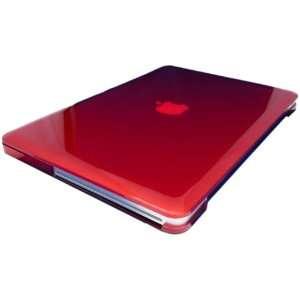 DSI 13.3 Aluminum MacBook Crystal Hard Case Cover, Red